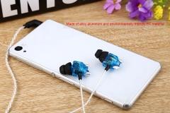 Somic V4 Double Moving-coil In-ear Headphones HiFi Stereo Earphones Blue