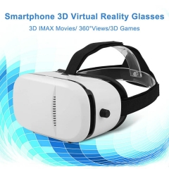 Excelvan Universal 3D VR Box Virtual Reality Headset Adjustable IPD 3D Movies Games Glasses White One size