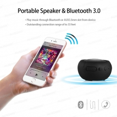 AUSDOM AS2 Portable Bluetooth Stereo AUX Waterproof IPX3 Outdoor Speaker Black One Size