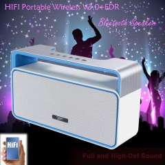 MUSKY DY25 Stereo HIFI Bluetooth Speaker with MP3 FM Radio AUX Hands-free Function Black One Size