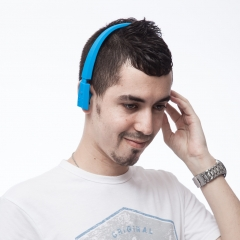 Excelvan Bluetooth 3.0 Stereo Wireless Sports Headphone with Call Mic Blue