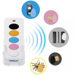 Forecum 5 in 1 Remote Wireless Key Finder Intelligent Anti-lost Alarm-White White One size