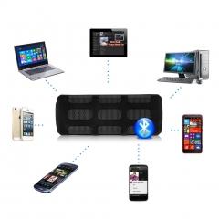 Ditter Outdoor Indoor Wireless Bluetooth Speaker Power Bank Line in Microphone MIC Black One size