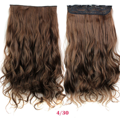 New Hairpiece Curly 5 Clips in Hair Styling Synthetic Extensions  for Christmas Gift 4/30 24cm
