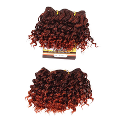 Cute Short Curly Hairpiece 2pcs Synthetic Hair Extensions 3 20cm
