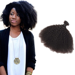 100% Unprocessed Virgin Hair Kinky Curly Style Human Hair 1psc/100g Natural Black 14inch