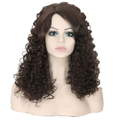 New Arrival Synthetic Hair Hot Sale Long Curly Hair For Glamorous Women Dark brown 44cm
