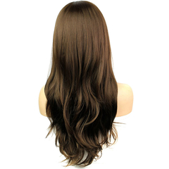 New Arrival Synthetic Hair Hot Sale Long Curly Hair For Women's Wigs Brown​ 71cm