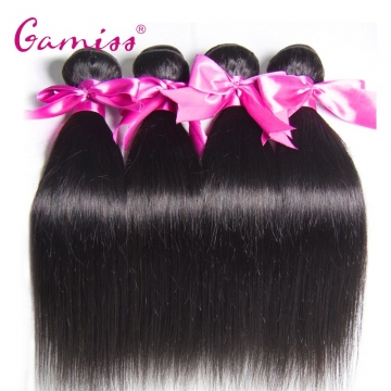 4pcs Burmese Virgin Hair Straight Extension Human Hair Weave  for Valentine's Day Natural Black 22*22*22*22INCH