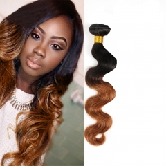 100% Unprocessed Virgin Hair Body Wave Style Ombre Human Hair  for Valentine's Day Dark Brown 12inch
