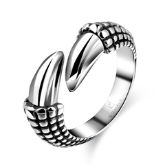 Stylish Stainless Steel Punk Ring Bridal Sets Silver 8