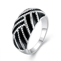Silver Plated New Design Finger Ring For Lady Silver 7