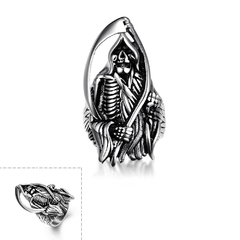 Stylish Various Styles 316L Stainless Steel Punk Ring Silver 8