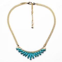 Fashionable Candy Color Gemstone Embellished Necklace