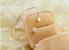 Chic Diamante Heart Embellished Sister Bracelet