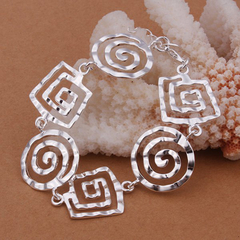 Special Design Worn Pattern Bracelet For Women 8 INCHS Silver One size