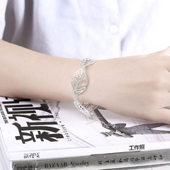 Women Classy Design  Silver Plated Bracelet Silver One size