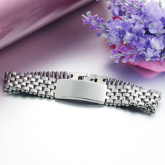 Chic Smooth Link Bracelet For Men Silver 21cm