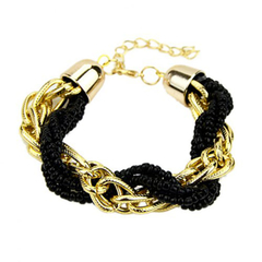 Bohemian Style Women's Beads Embellished Bracelet As the picture 20--24CM