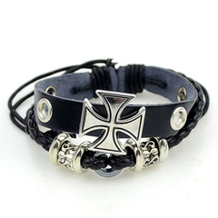 Chic Women's Cross Layered Bracelet As the picture 12 cm