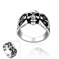 Stylish Retro Style Stainless Steel Ring For Men As the picture One size