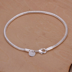 Brilliant Snake Bone Shape Bracelet For Women Silver 20CM*0.3CM