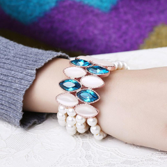 Viennois Fashion Women Elegant Silver Bracelet As the picture One size
