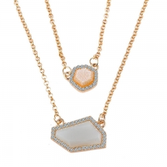 Two-strand Irregular Necklace