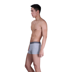 2016 Men's Middle Waist Elastin Cotton Underwear Light gray L