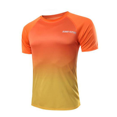 New Fashion Men's Sports T-Shirt Orange XL