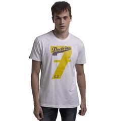 High Quality Customed Man NO.7 Pattern Print T-Shirt White S