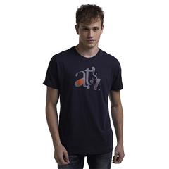 Casual Style Men Soft Print Active T-Shirt Blue L