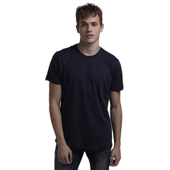 New Design Classic Style High Quality Cotton Pure Color Casual T-Shirts Blue L