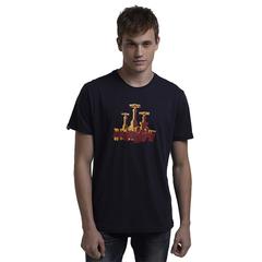 New Design Print Cotton Customed T-Shirt Classic Style High Qulity Blue M