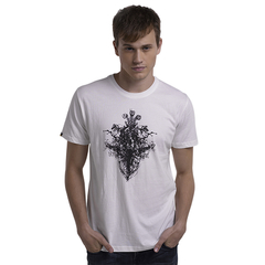 Fashion Design Cotton Material Hot Print T-Shirt High Quality White S
