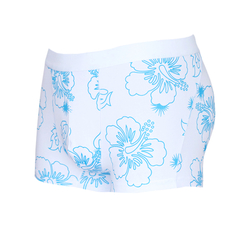 Men's Cotton Eco-Friendly Print Boxer Briefs Fashion Design Light blue M