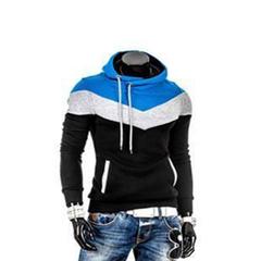New Fashion Men Spring Autumn Hoodies Casual Style Black 3XL