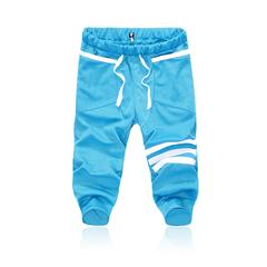 Outdoor Sports Casual Shorts Pants Cotton Blend Trousers Light blue M