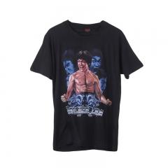 Fashion Men Short-sleeved T-shirt Creative 3D Bruce Lee Black M