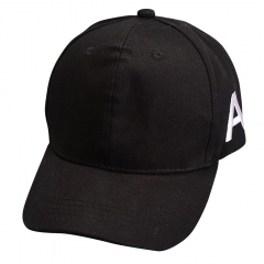 Fashion Cotton Brand Star Wears Caps Letter A Baseball Cap  Hip-hop Hats black one size