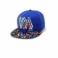 New Style Men Letter Pattern Hip Hop Baseball Caps Wholesale blue one size