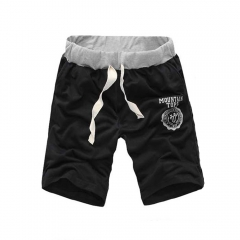 Fashion Men Outdoor Sports Casual Leisure Shorts Pants Black L