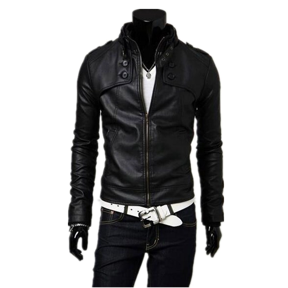 Leather jacket yahoo answers - Mens Red Leather Jacket With Collar