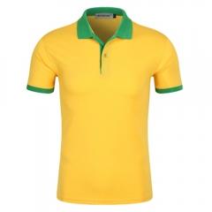 Men New Half Sleeve Lapel Pure Color Uniform Polo Shirt 1# L