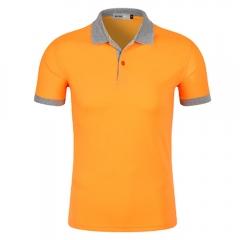 Men New Half Sleeve Lapel Pure Color Uniform Polo Shirt 10# XL
