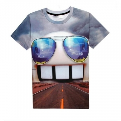 Men Casual Style Men Funny 3D Print T-shirts As the Picture S