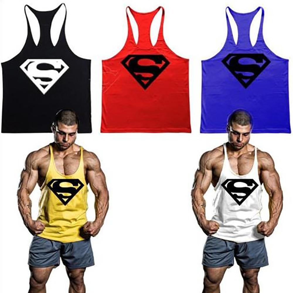 Kilimall fitness men gym stringer tank top sports vest for Fitness gym hombres