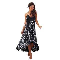 Ethnic Style Maxi Dress as the picture S