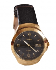 Diesel Executive Limited Edition Golden Date Display Watch - Black