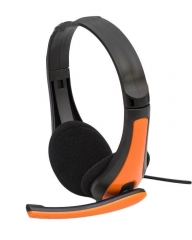 Tech-com SSD-HP-301, Multimedia Stereo Headphones Orange